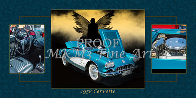 1958 Corvette by Chevrolet and Dark Angel Collage photograph Print 3513.02