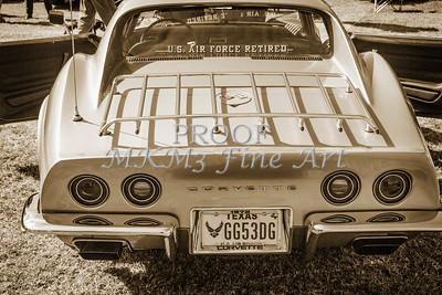 1972 Chevrolet Corvette Stingray Back Side Sepia 3032.01