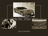 1974 Red Corvette by Chevrolet Collage Sepia Print 3514.01