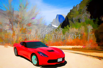 1974 Chevrolet Corvette Red Painting Print 3476.02