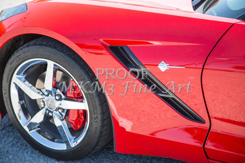 1974 Chevrolet Corvette Red Front Fender Color photograph 3475.02
