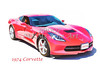 1974 Red Corvette by Chevrolet Painting Print 3480.02