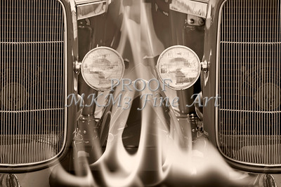 Aged Classic Car Double Fire