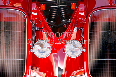 Red Classic Car Double