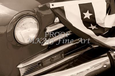 Classic Monochrome Old Car