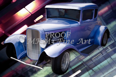 Painting 1931 Ford Model A Classic Car color 3220.02