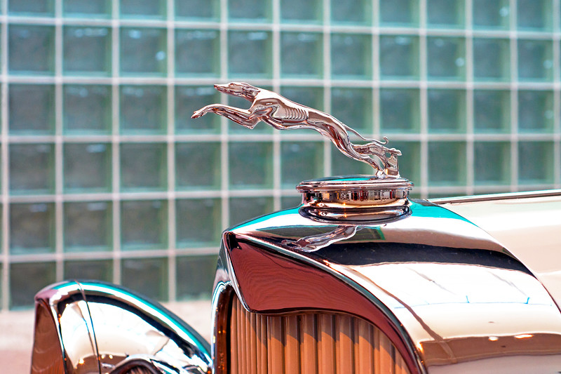 1929 Ford Lincoln Greyhound hood ornament