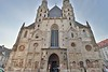 St. Stephen's Cathedral, Vienna. Construction began in 1368 on this building, the most heavily toured church in Austria.