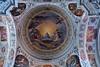 Closeup of dome ceiling frescoe. Dominikaner.