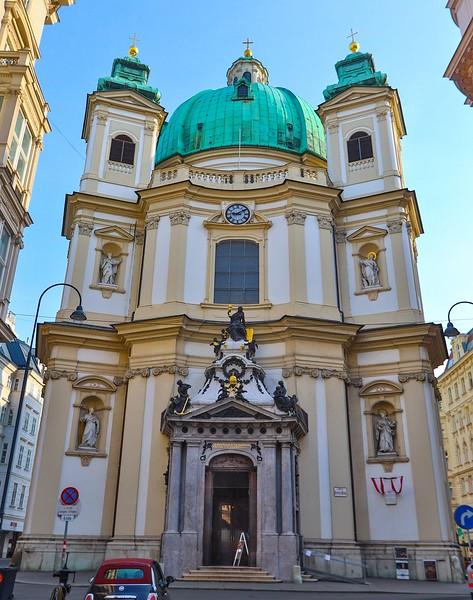 Facade of St. Peter's Church, Vienna.
