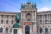 North entrance to Hofburg Palace, the city residence of the Hofburgs.