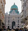 View looking west at the Hofburg Palace dome. Vienna.