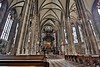 One priceless treasure was sadly lost in the WWII fire- the ornate wooden choir stalls, carved in 1487. Brick encasements protected the altar, Frederick III's tomb, and other treasures, however.
