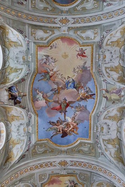 Closeup of center frescoe. St Anne's Church.