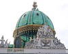 Close up of the Hofburg Palace dome.