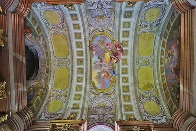 Another similar atrium has its own unique frescoes and design  variations.