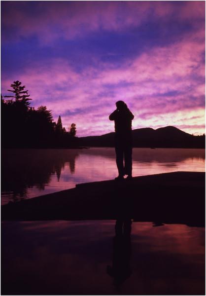 Adirondacks Forked Lake Sunset Landing 6 August 1978