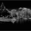 Adirondacks Forked Lake Raquette River with Nautilex Canoe IR Film July 1982