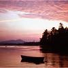 Adirondacks Forked Lake Sunset Landing Moored Rental Boats August 1976