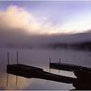 Adirondacks Eigth Lake Morning Dock Fisherman July 1996