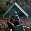 Adirondacks Long Lake Cold River Ron Stidnick Camouflage Tending Fire October 1979