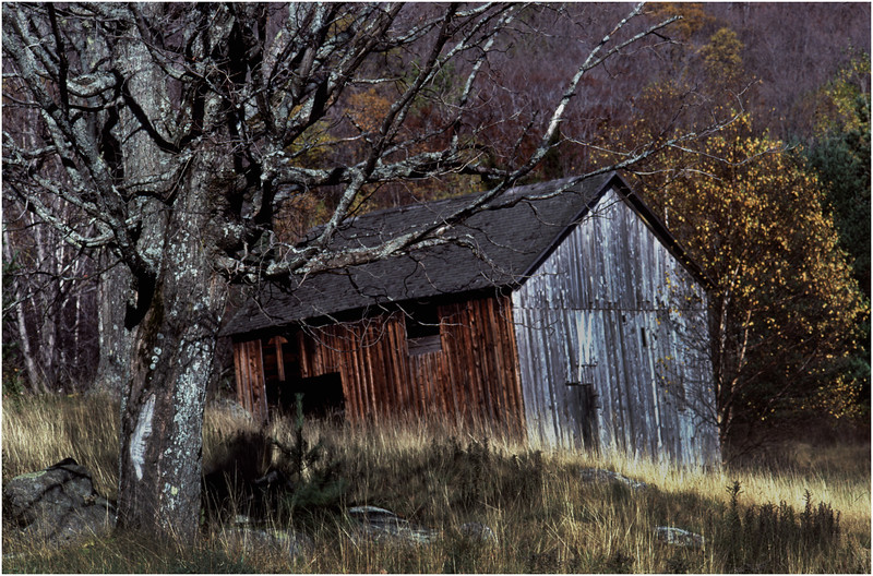 Adirondacks Blue Mountain Barn October 1990