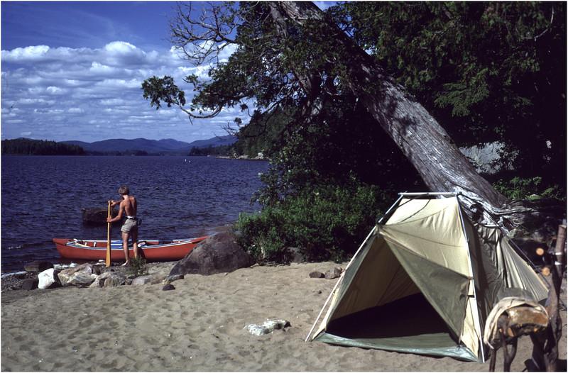 Adirondacks Long Lake Beach near Kempshall Trail July 1981