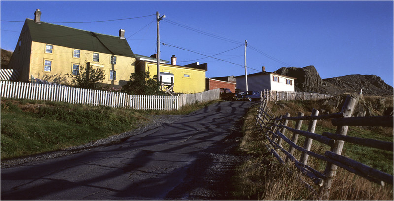 Upper Island Cove Newfoundland Canada Village Houses 3 October 1988