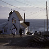Upper Island Cove Newfoundland Canada Heading to Church October 1988
