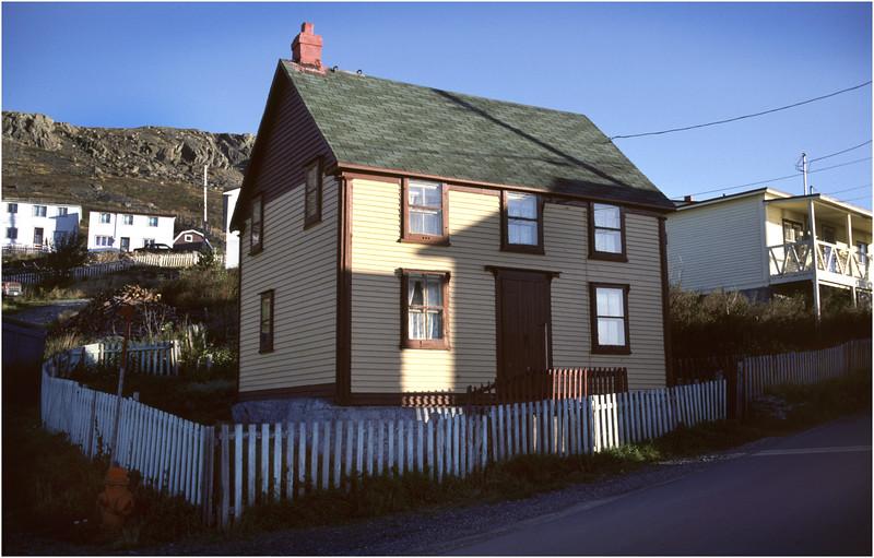 Upper Island Cove Newfoundland Canada Village Houses 4 October 1988