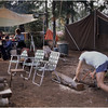 Adirondacks Forked Lake Campsite 35 Bob Goot Sawing August 1975