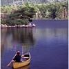 Adirondacks Forked Lake  Bluff Site Morning Paddler July 1979