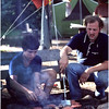 Adirondacks Forked Lake  Bluff Site Ron Stidnick Jr and Joe Amyot Cooking July 1979