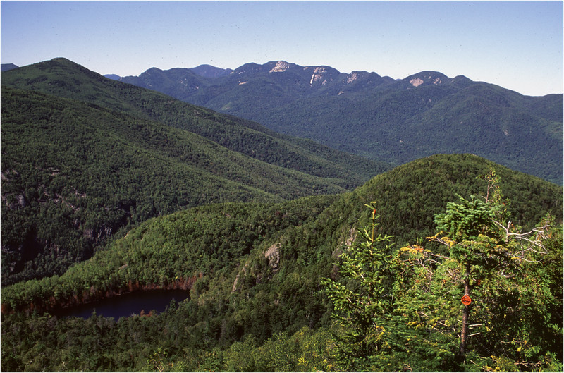 Adirondacks Giant Mt Trail View Great Range August 1992