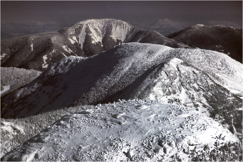 Adirondacks Giant Mountain Great Range from Mt Marcy 1 January 1979