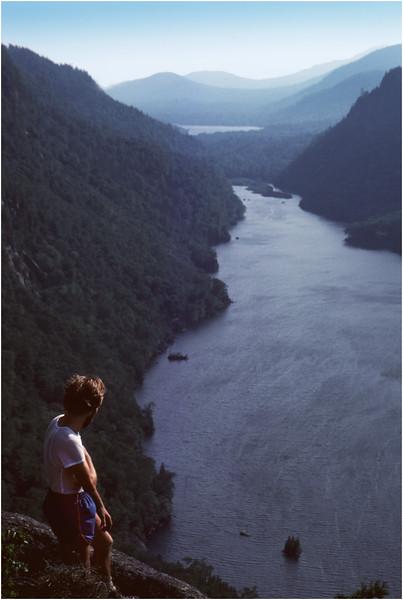 Adirondacks Ausable Lakes from Indian Head Bob Goot 2 June 1978