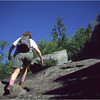 Adirondacks Giant Mt Trail Kim Ascending August 1992