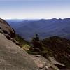 Adirondacks Giant Mt Trail  View Dix Range August 1992
