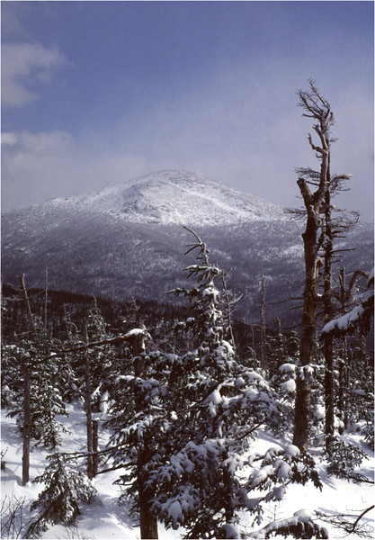 Adirondacks Mt Marcy from Mt Colden January 1977