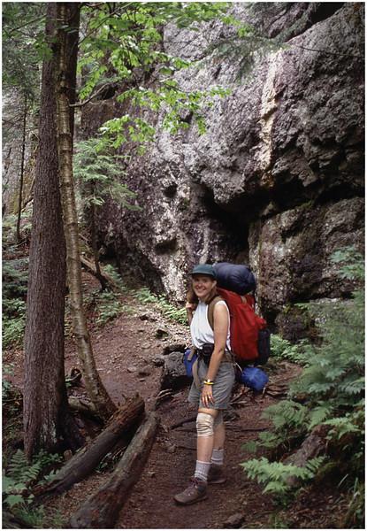 Adirondacks Avalanche Pass Trail Kim July 1995