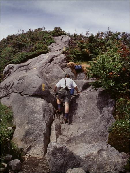 Adirondacks Mt Skylight Kim Bessette and Mcki Ascending July 1995