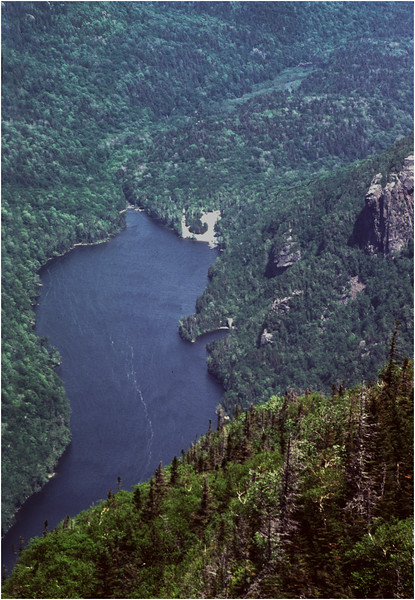 Adirondacks Ausable Lake from Mt Colvin June 1978