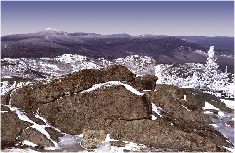 Adirondacks Cascade Peak View of Whiteface Mt 1 January 1982