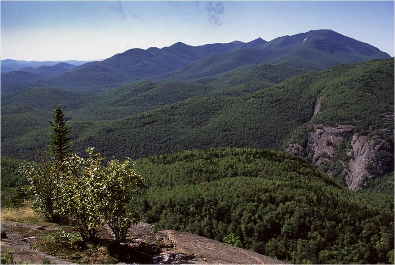 Adirondacks Giant Mt Trail View Dix Range and Chapel Pond Cliffs August 1992