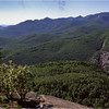 Adirondacks Giant Mt Trail View Dix Range and Chapel Pond Cliffs August 1992