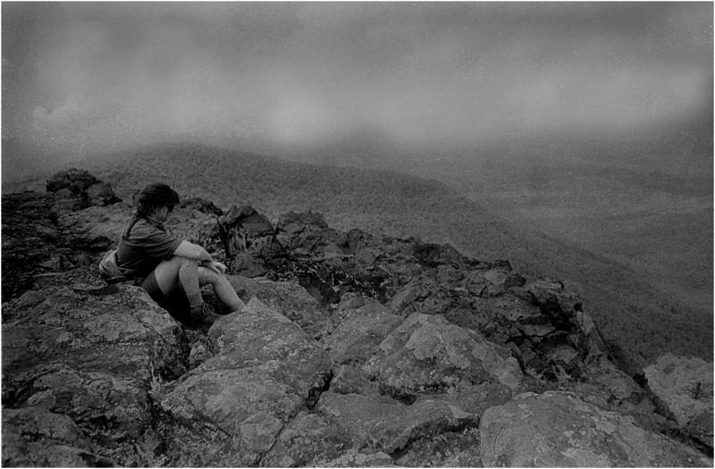 Smokey Mts Tennessee Appalachian Trail Overlook 2 Kim Bessette IR Film July 1996