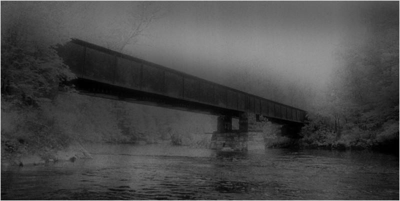 Washington County NY Battenkill Creek Shushan Covered Bridge June 1983