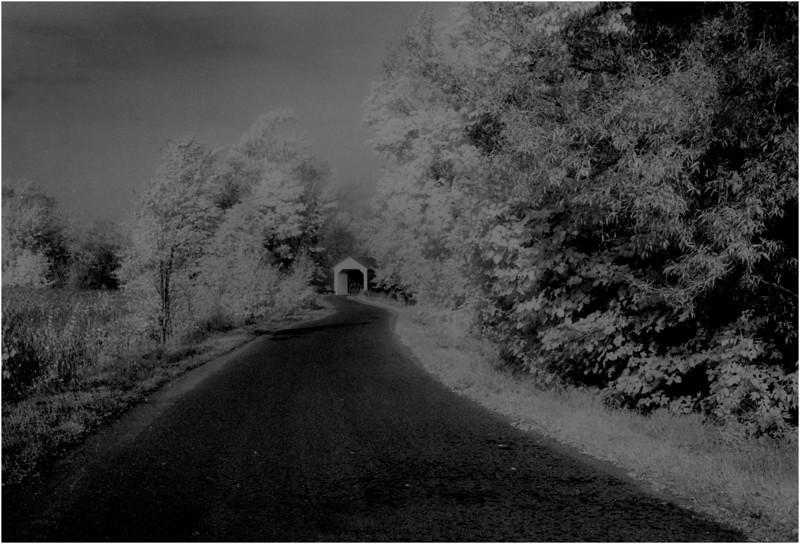 Washington County NY Eagleville Covered Bridge 2 IR Film June 1982