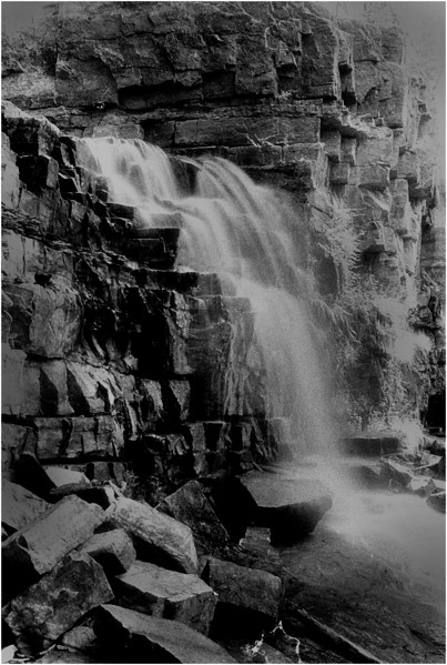 Unknown Waterfall IR Film May 1989