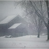 Halfmoon NY Barn in Snowstorm  March 1982